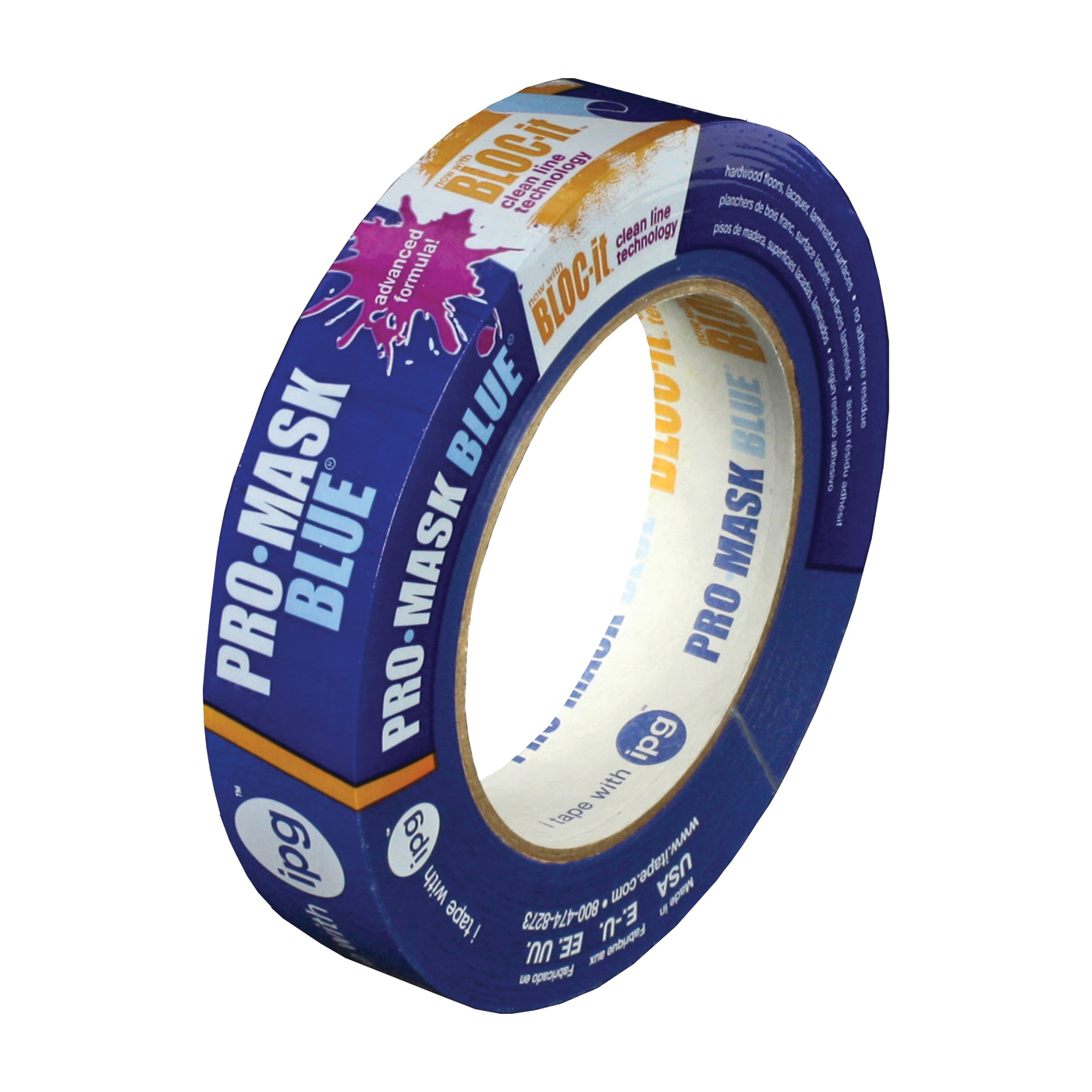 Picture of IPG 9530-.75 Masking Tape, 60 yd L, 0.7 in W, Crepe Paper Backing, Blue