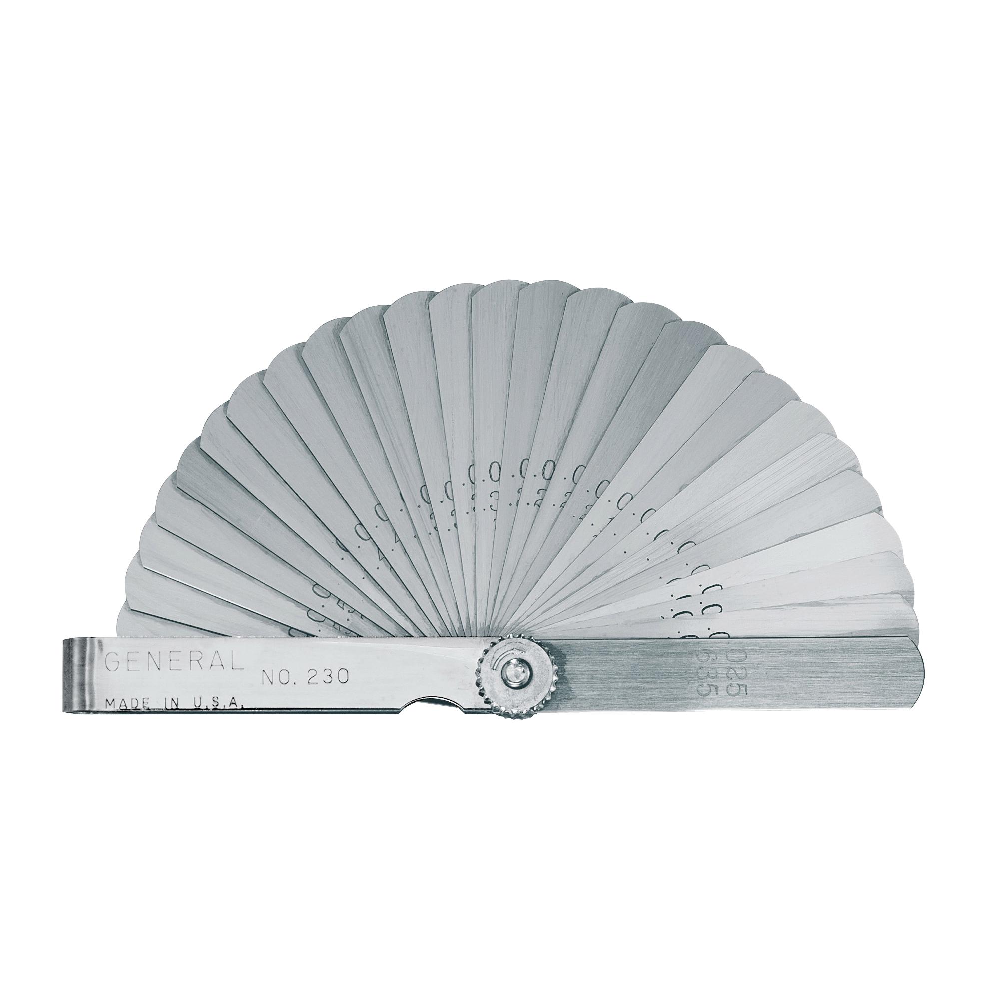Picture of GENERAL 230 Leaf Feeler Gauge, Functions: Inch, Metric, Steel