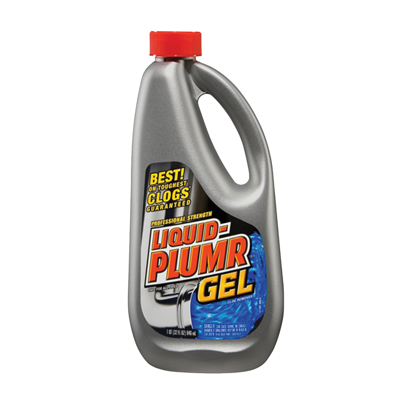 Picture of Liquid-Plumr 00243 Clog Remover, Liquid, Pale Yellow, Bleach, 32 oz Package, Bottle