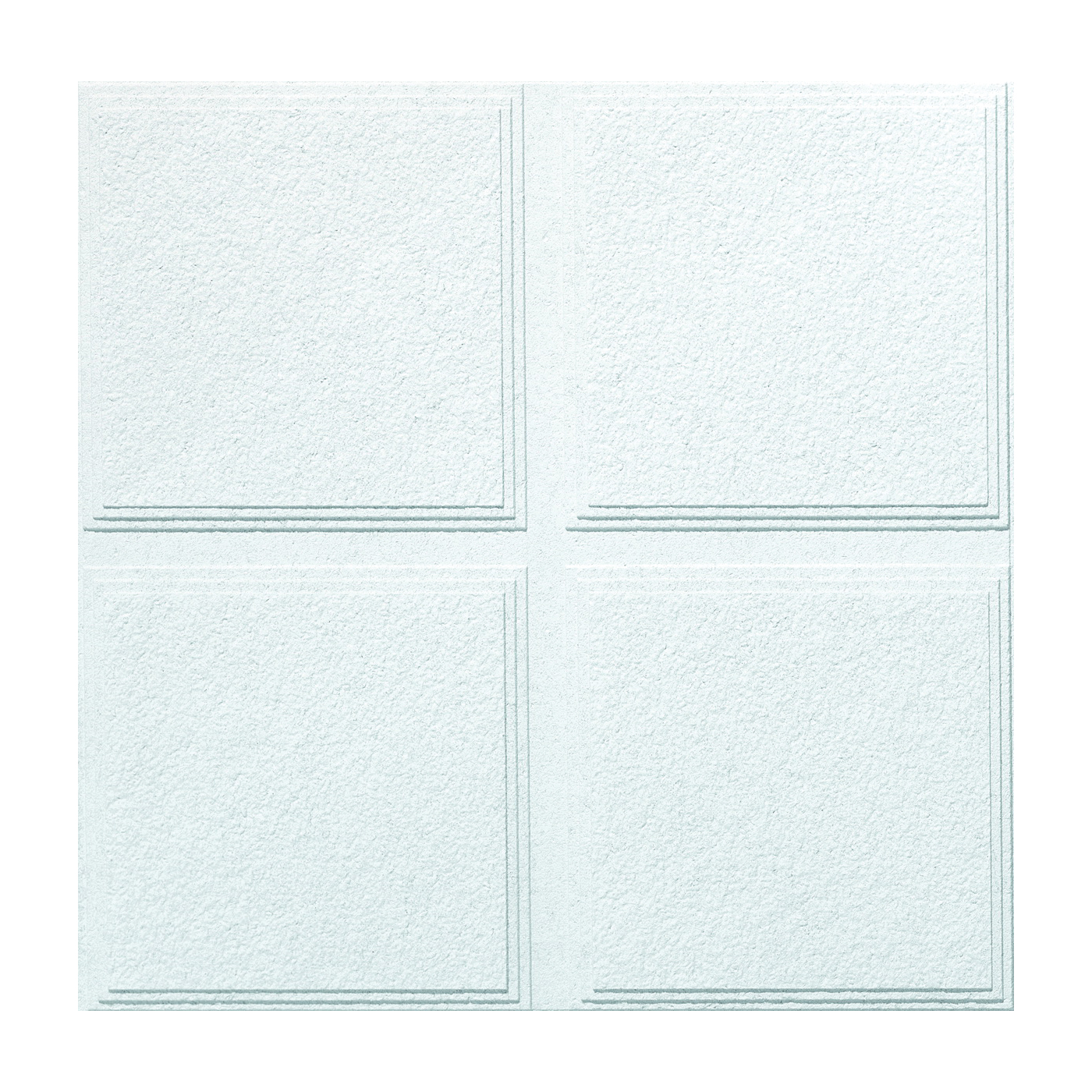Picture of USG Luna Pedestals IV CLIMAPLUS R72716 Ceiling Panel, 2 ft L, 2 ft W, 3/4 in Thick, Mineral Fiber, White