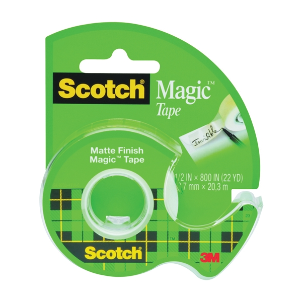 Picture of Scotch Magic 119 Office Tape, 800 in L, 1/2 in W, Plastic Backing