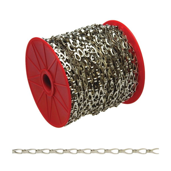 Picture of Campbell 0710227 Sash Chain, 2 Trade, 164 ft L, 29 lb Working Load, Steel, Chrome, Reel