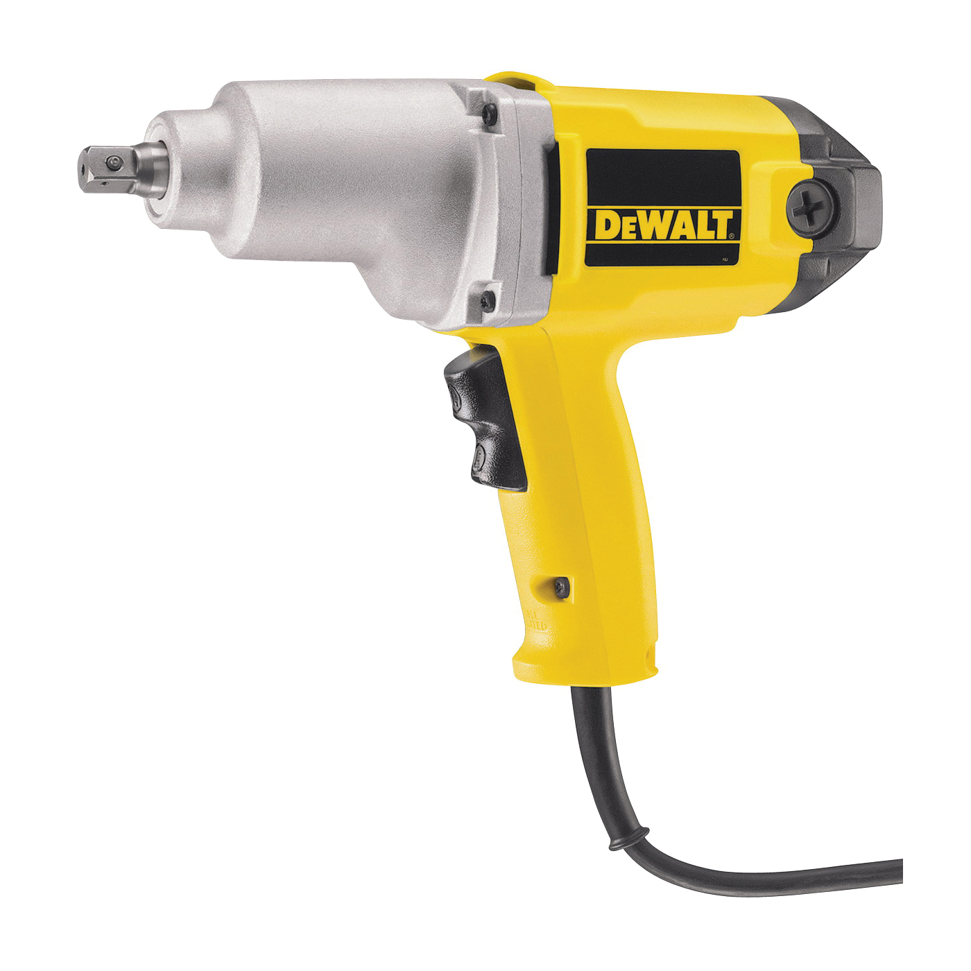 Picture of DeWALT DW292 Impact Wrench with Detent Pin Anvil, 120 V, 1/2 in Drive, Square Drive, 345 ft-lb, 2100 rpm Speed