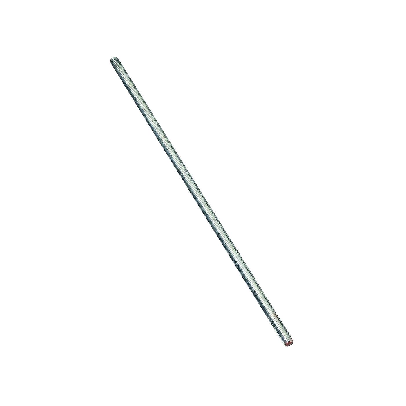Picture of Stanley Hardware 179598 Threaded Rod, 5/16-18 Thread, 72 in L, A Grade, Steel, Zinc, UNC Thread
