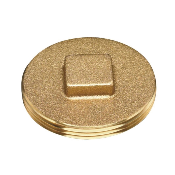 Picture of Oatey 42369 Cleanout Plug with Raised Head, 1-1/2 in, Brass