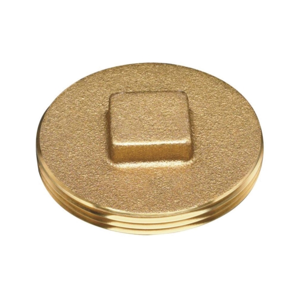 Picture of Oatey 42370 Cleanout Plug with Raised Head, 2 in, Brass