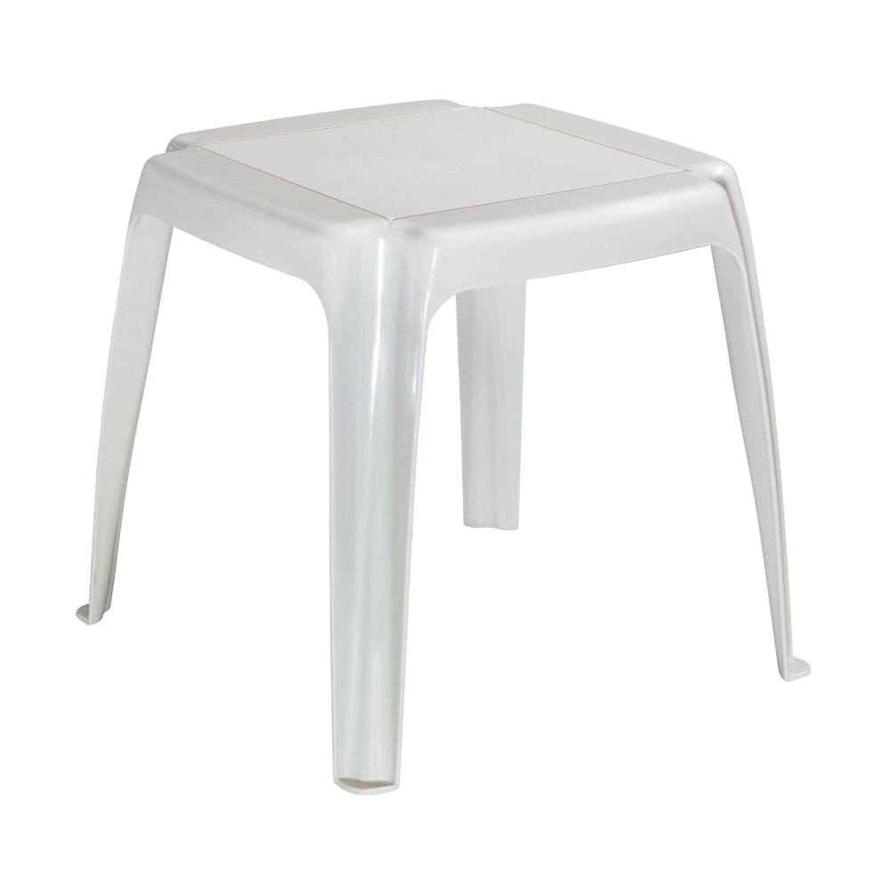 Picture of Adams 8115-48-3700 Stacking Side Table, 16 in W, 16 in D, 16 in H, Resin Frame, Square Table, Polypropylene Table