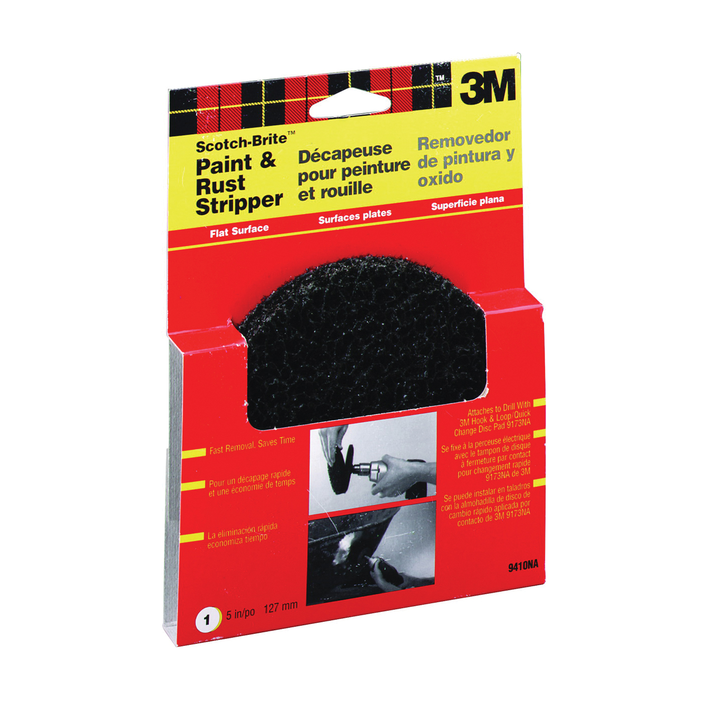 Picture of 3M 9410NA Sanding Disc, 7-3/4 in L x 5 in W Pad/Disc