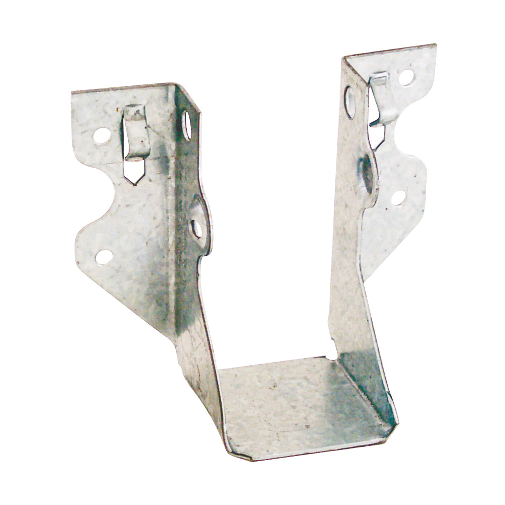 Picture of MiTek JUS24 Slant Joist Hanger, 3-1/8 in H, 1-3/4 in D, 1-9/16 in W, 2 in x 4 in, Steel, Galvanized