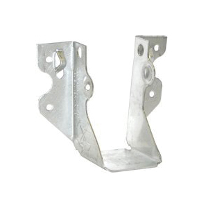 Picture of MiTek JUS210-3TZ Slant Joist Hanger, 8-3/8 in H, 2 in D, 4-5/8 in W, 2 in x 10 to 14 in, Steel, Zinc