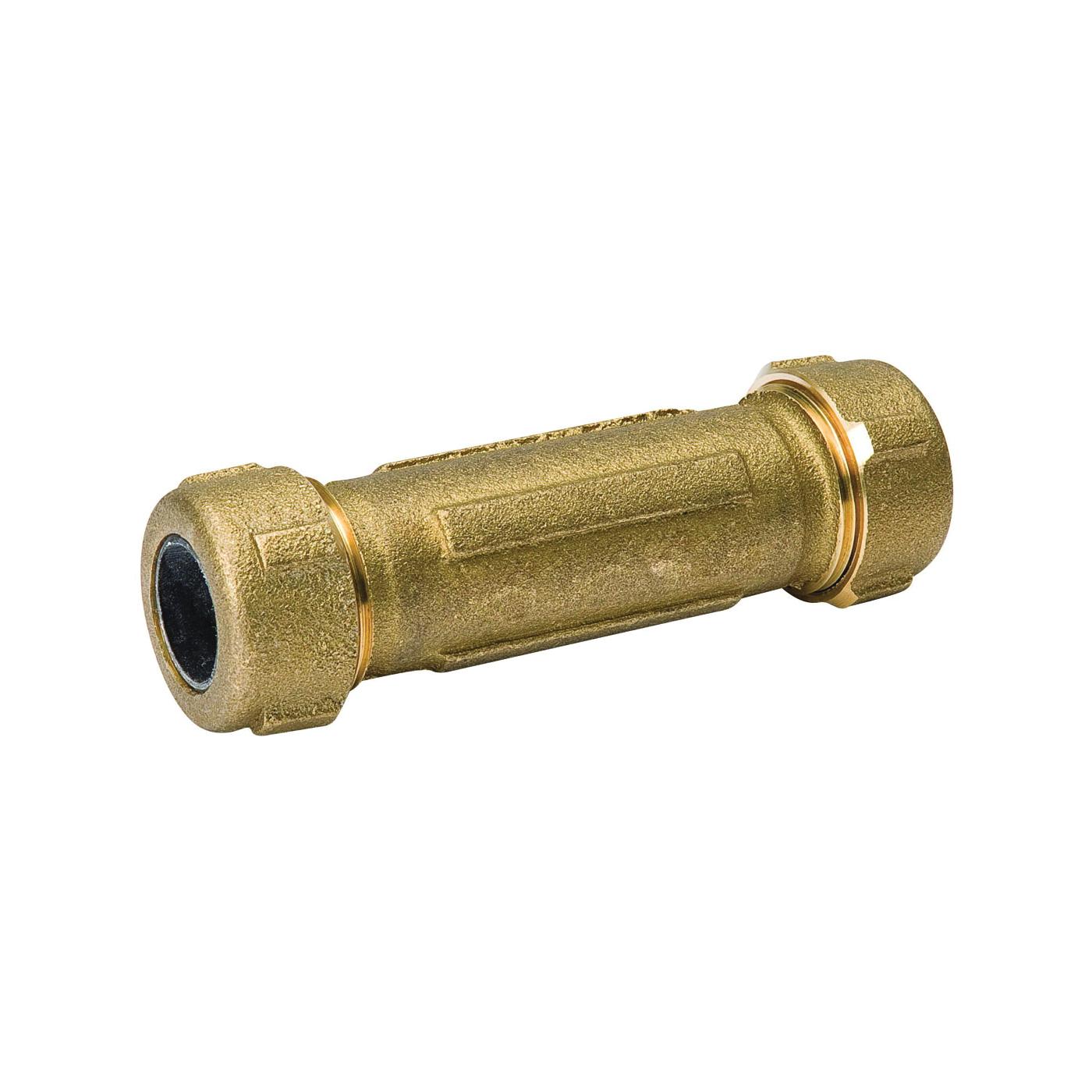 Picture of B & K 160-306NL Compression Coupler, 1-1/4 in, Brass, 125 psi Pressure