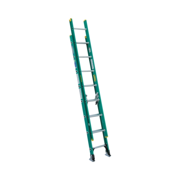 Picture of WERNER D5916-2 Extension Ladder, 16 ft H Reach, 225 lb, Fiberglass
