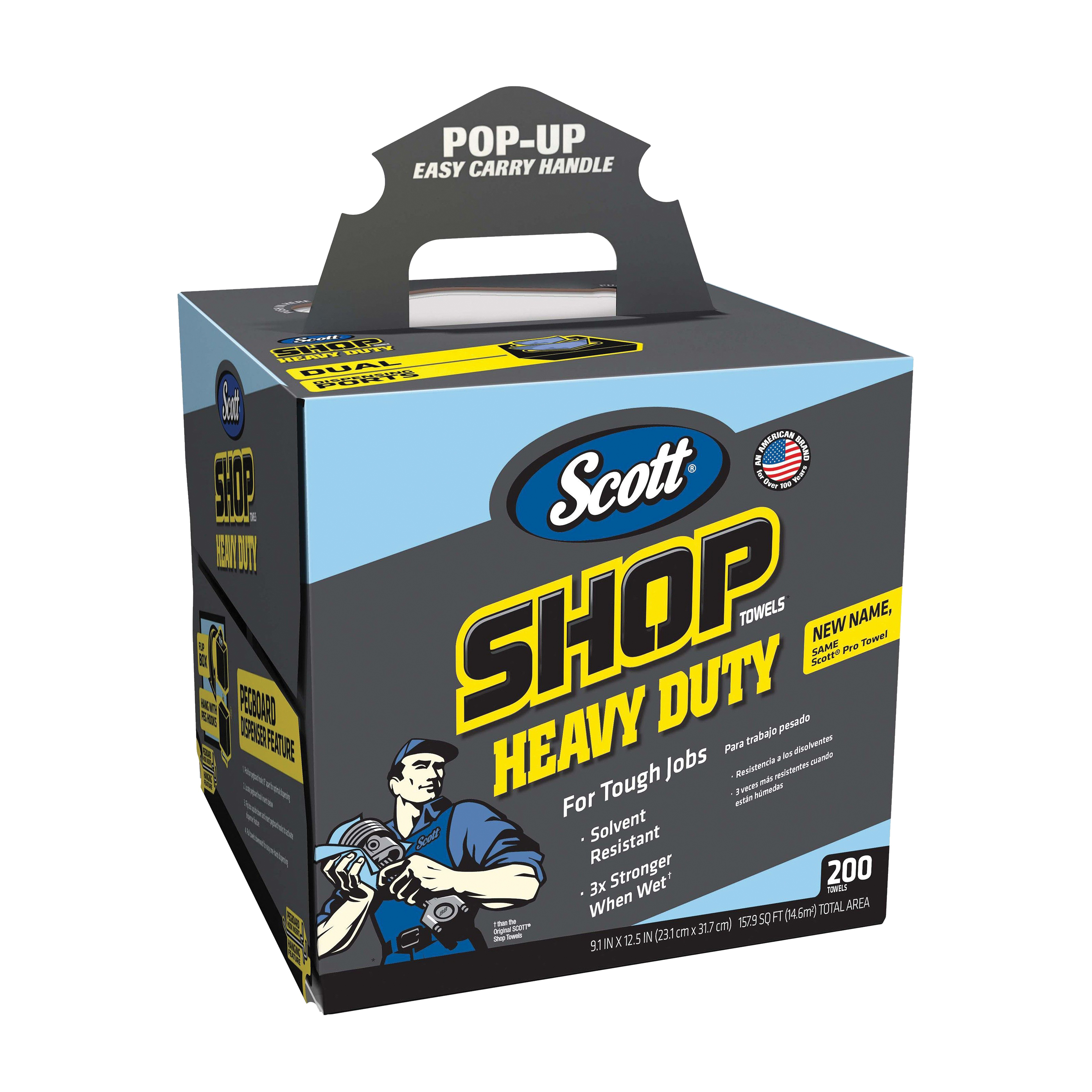 Picture of Scotts 39360 Shop Towels, Blue, 9.1 in