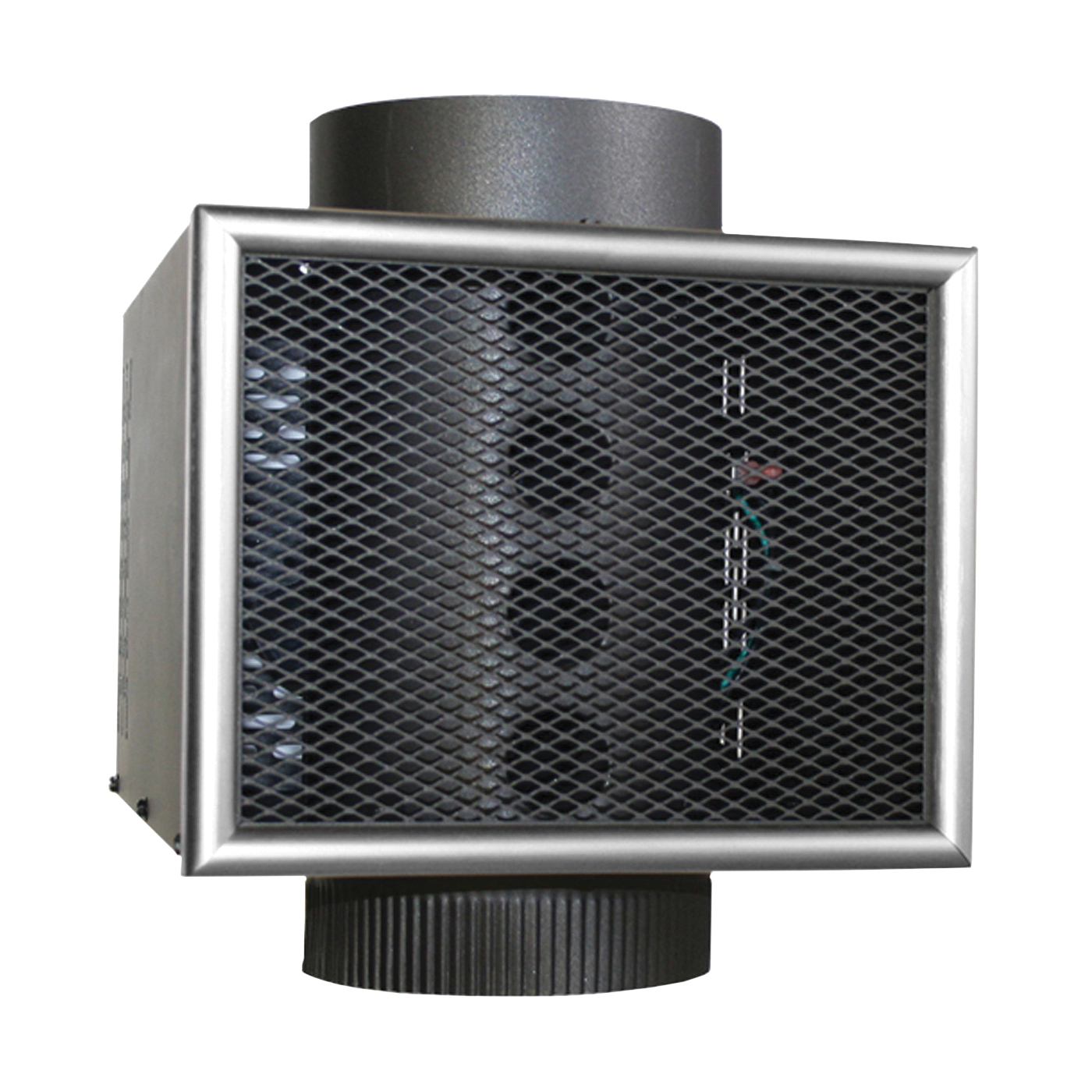 Picture of US STOVE HR-8/MH8 Heat Reclaimer, 130 cfm Air, 8 in Dia Pipe, Steel, Matte, Black