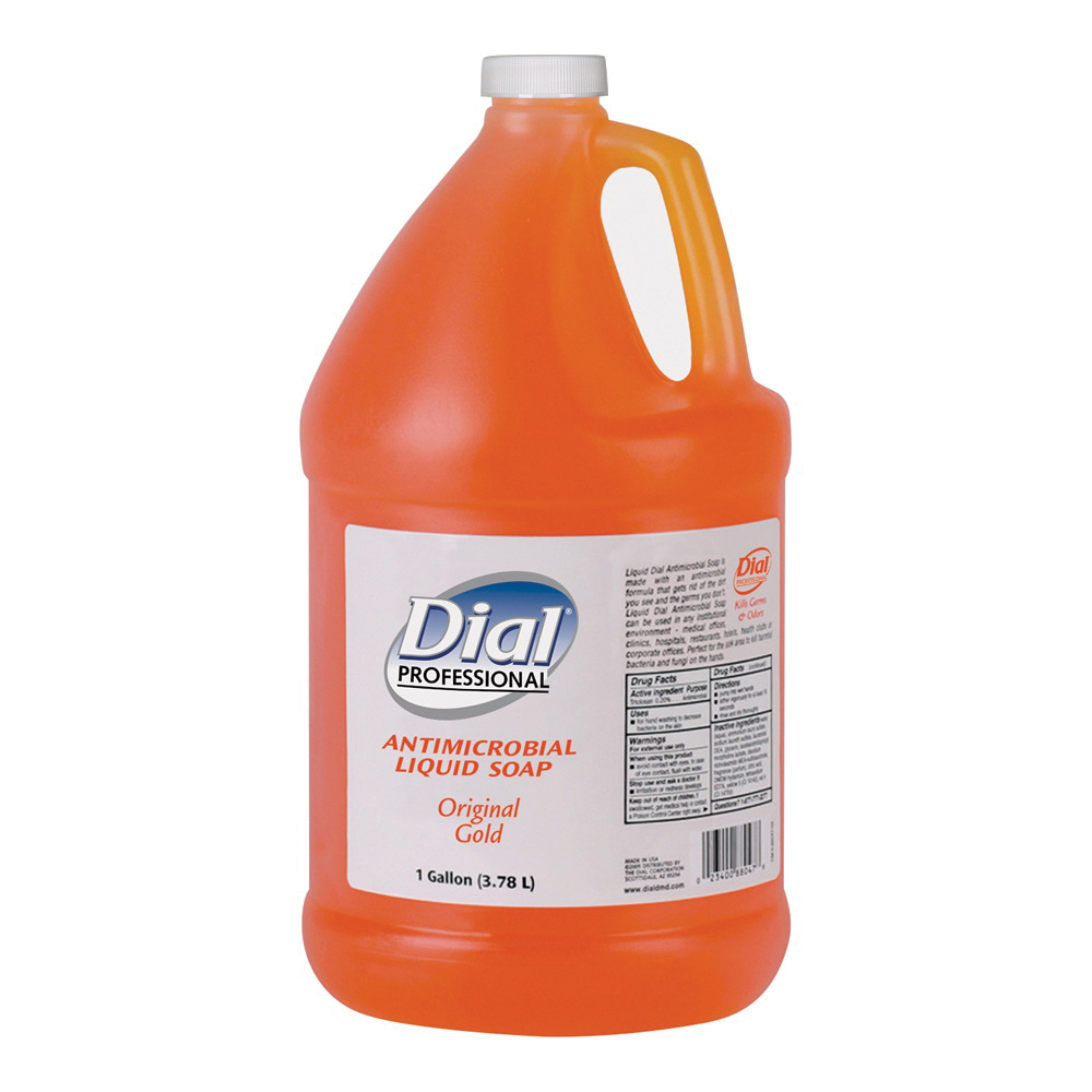 Picture of Dial Manufacturing 724716 Hand Soap, Liquid, Gold, Unscented, 1 gal Package, Bottle