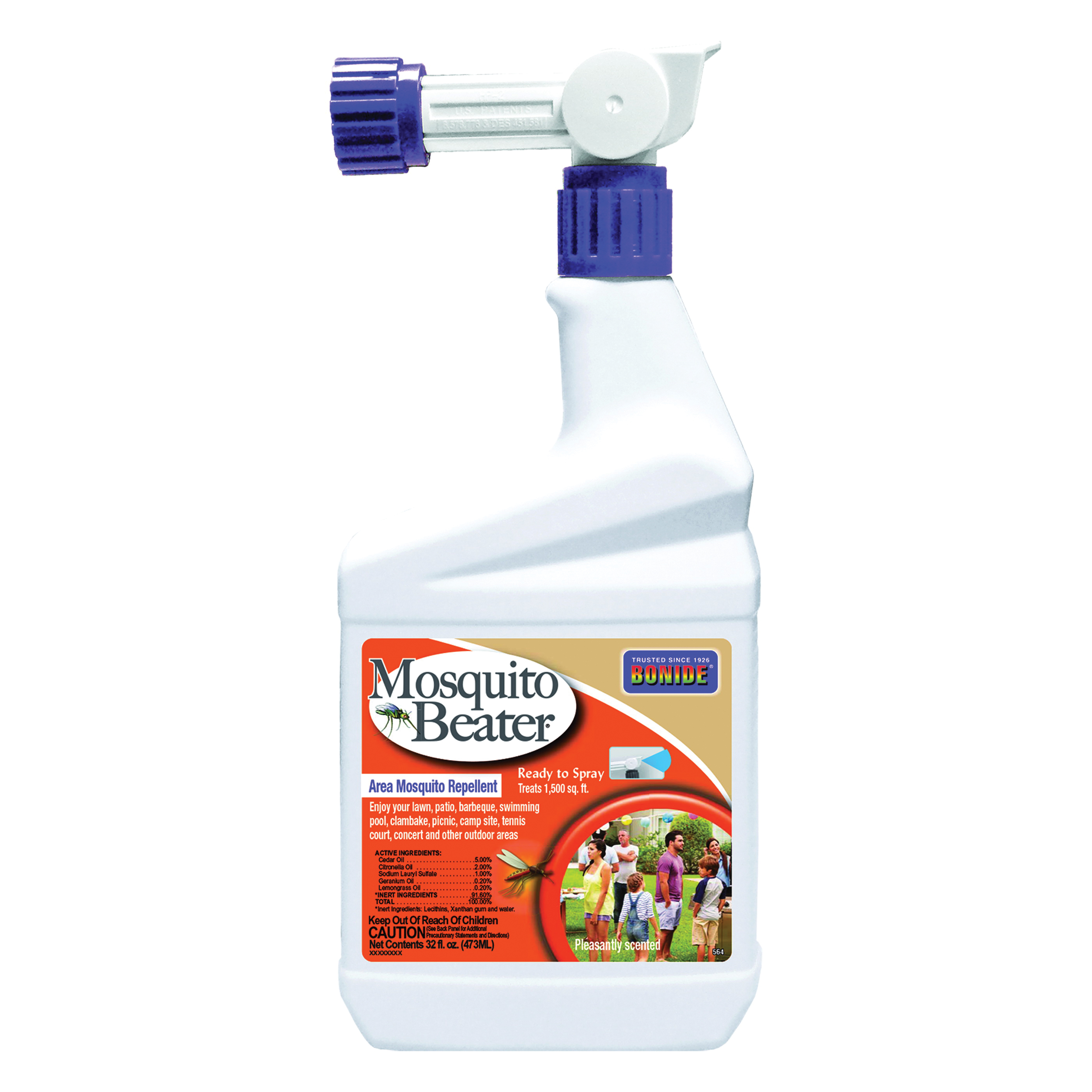 Picture of Mosquito Beater 564 Mosquito Beater Repellent, Liquid, Fragrant, Lemony, 1 qt Package