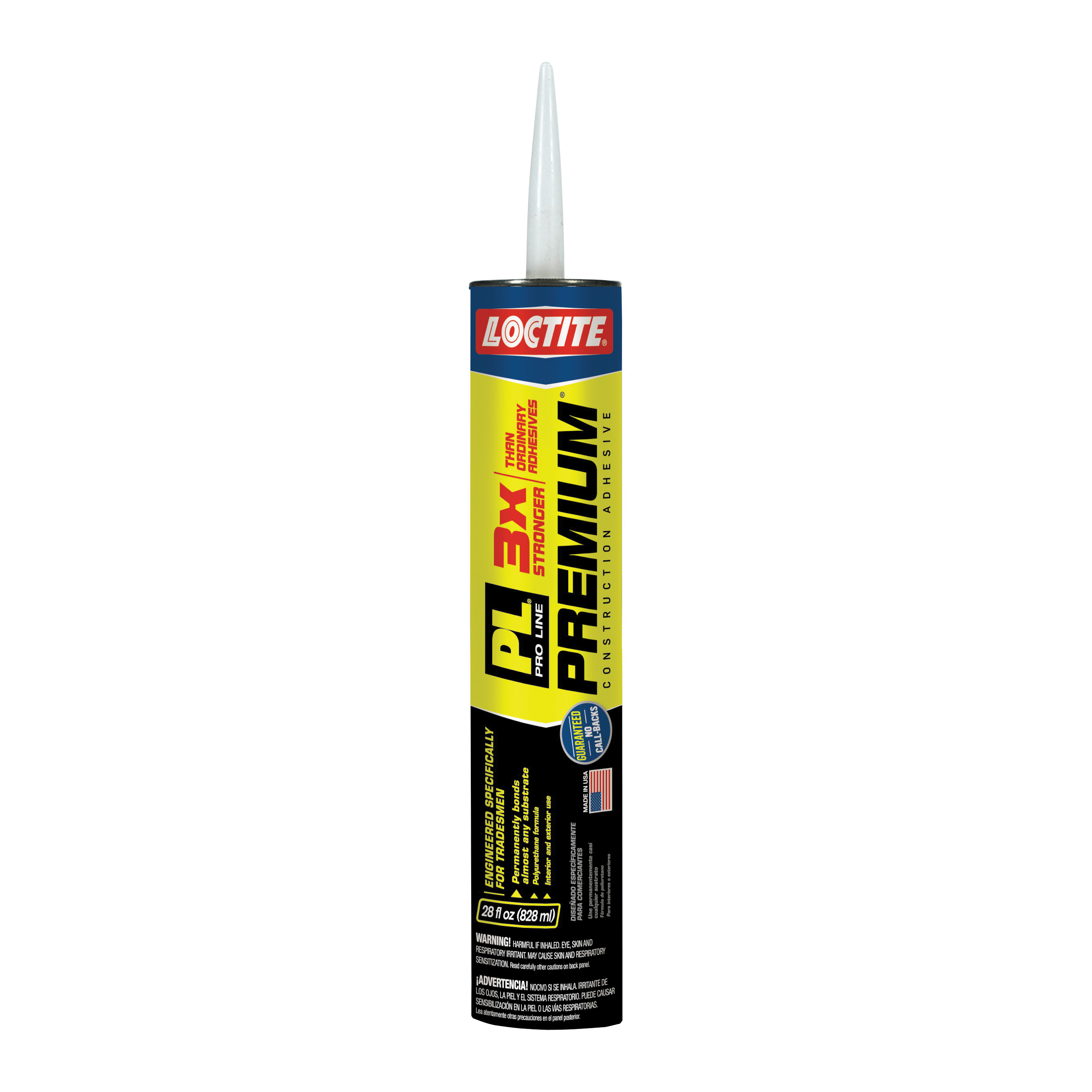 Picture of Loctite 1390594 Polyurethane Construction Adhesive, Tan, 28 fl-oz Package, Cartridge