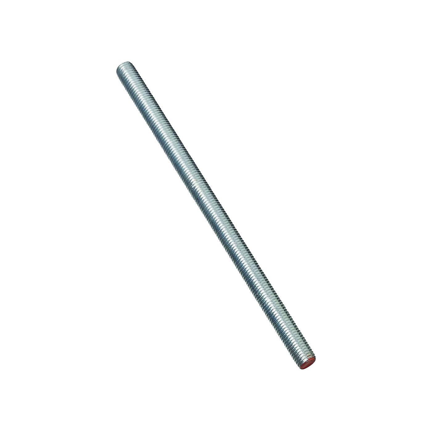 Picture of Stanley Hardware 179630 Threaded Rod, 5/8-11 Thread, 72 in L, A Grade, Steel, Zinc, UNC Thread