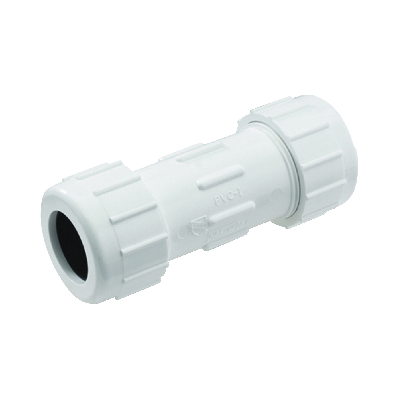 Picture of NDS CCC-0500 Compression Coupler, 1/2 in, White, SCH 40 Schedule, 150 psi Pressure