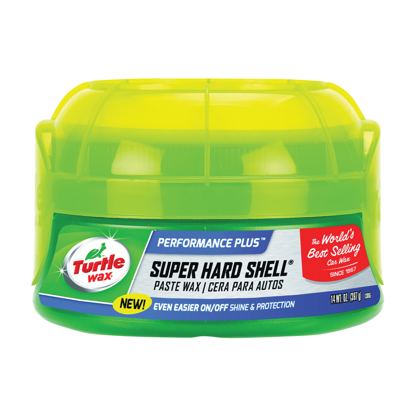 Picture of Turtle Wax SUPER HARD SHELL T222 Car Wax, 14 oz Package, Spray Dispenser, Paste, Typical Solvent