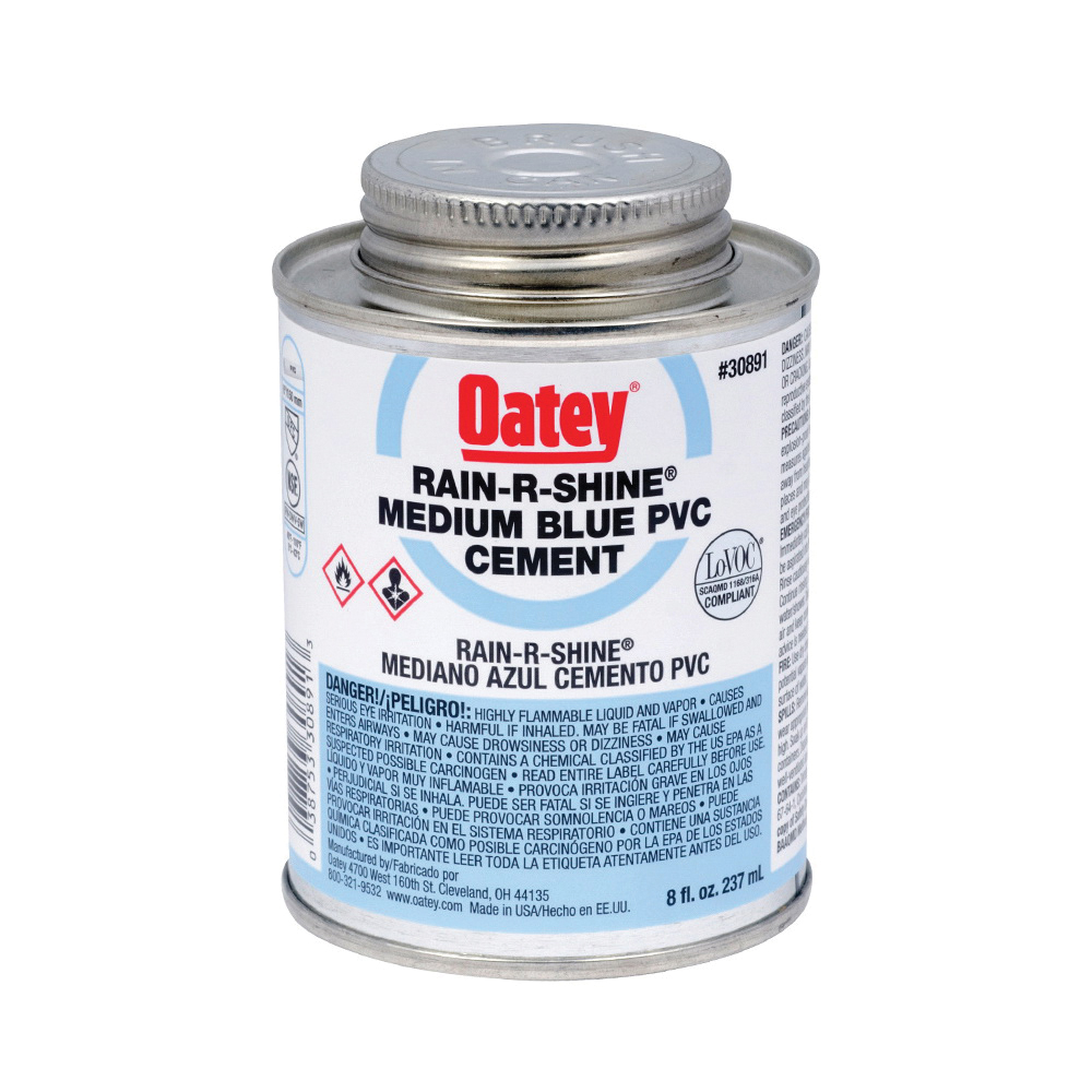 Picture of Oatey 30891 Solvent Cement, 8 oz, Can, Liquid, Blue