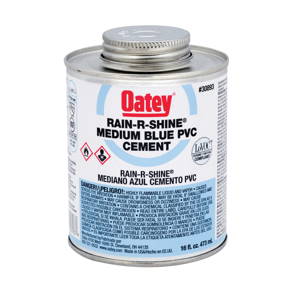 Picture of Oatey 30893 Solvent Cement, 16 oz, Can, Liquid, Blue