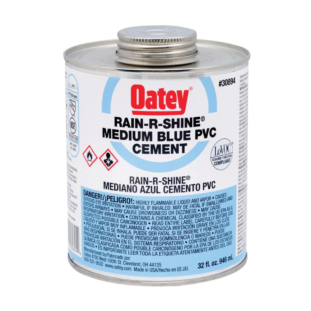 Picture of Oatey 30894 Solvent Cement, 32 oz, Can, Liquid, Blue