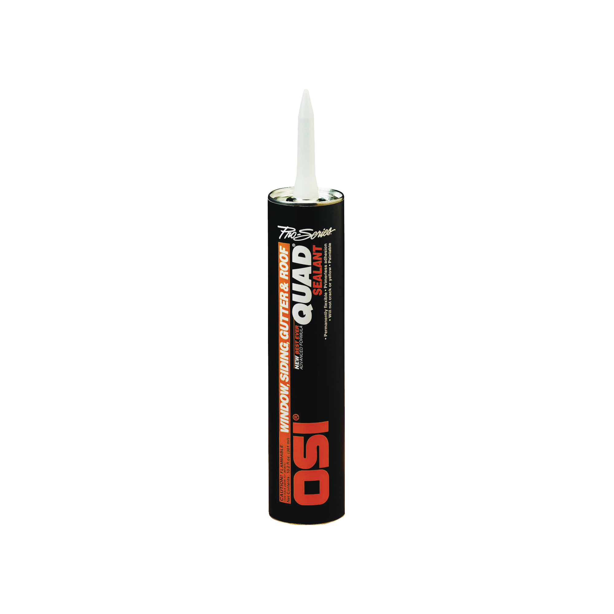 Picture of OSI 827837 Advanced Formula Sealant, Clear, 7 days Curing, 20 to 100 deg F, 10 oz Package, Cartridge