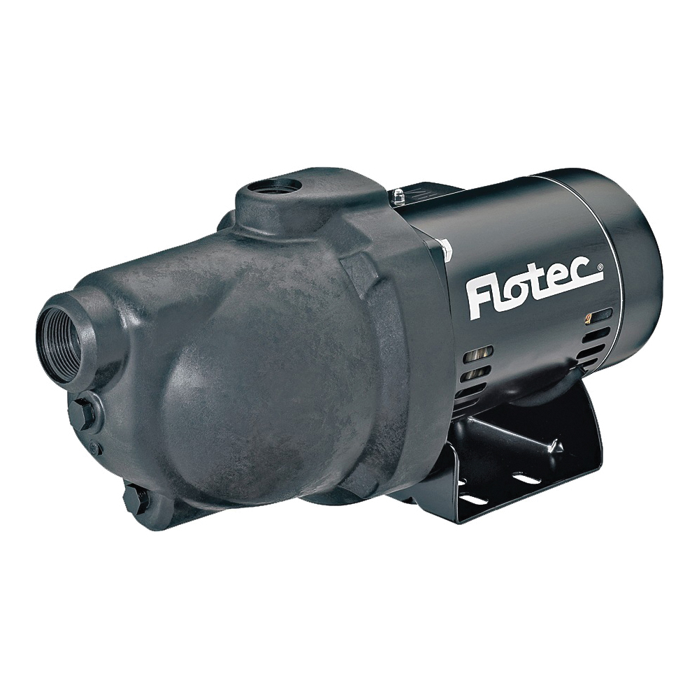 Picture of Flotec FP4012-10 Jet Pump, 9.4 A, 115/230 V, 0.5 hp, 1-1/4 in Suction, 1 in Discharge Connection, 25 ft Max Head