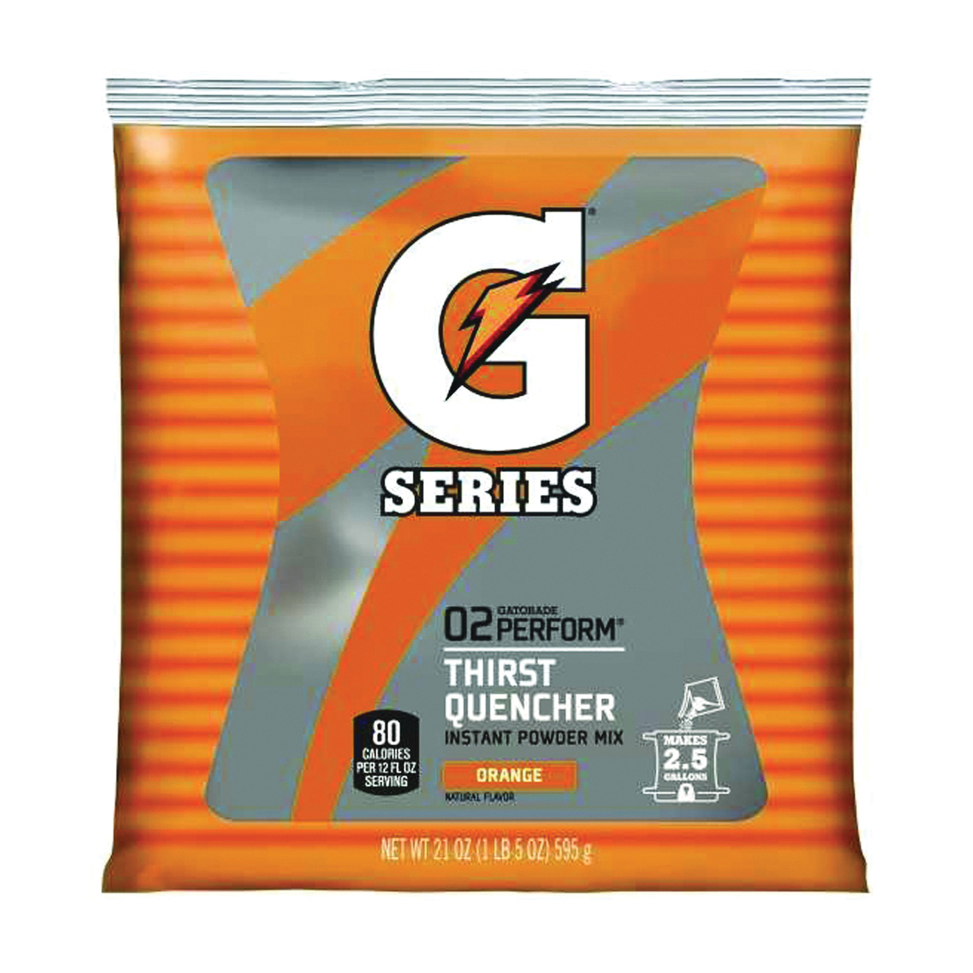 Picture of Gatorade G 03970 Thirst Quencher Instant Powder Sports Drink Mix, Powder, Orange Flavor, 21 oz Package, Pack