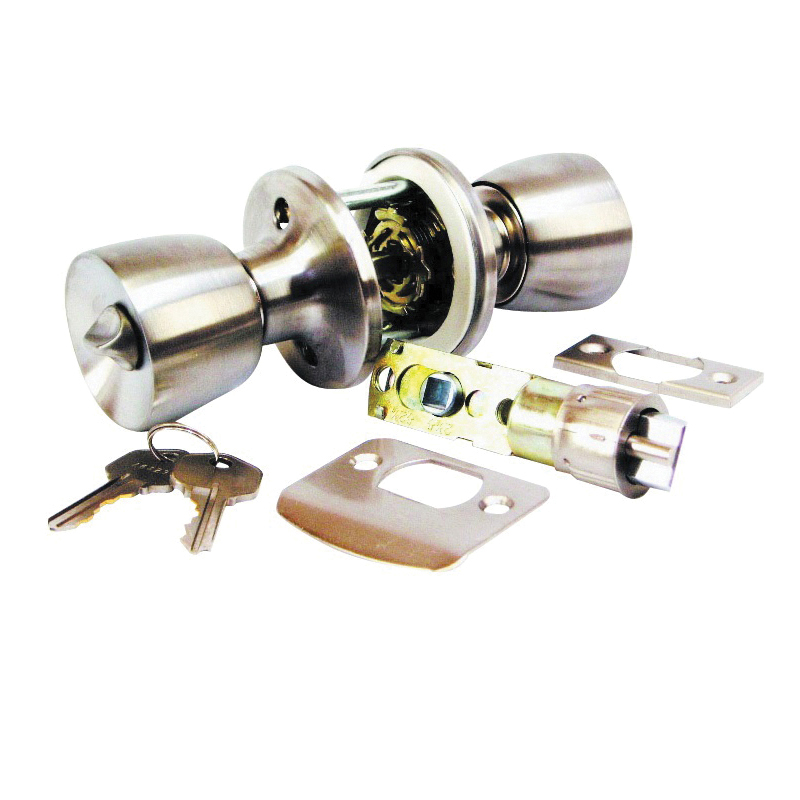 Picture of US Hardware D-090B Entrance Lockset, Stainless Steel, Brushed Stainless Steel