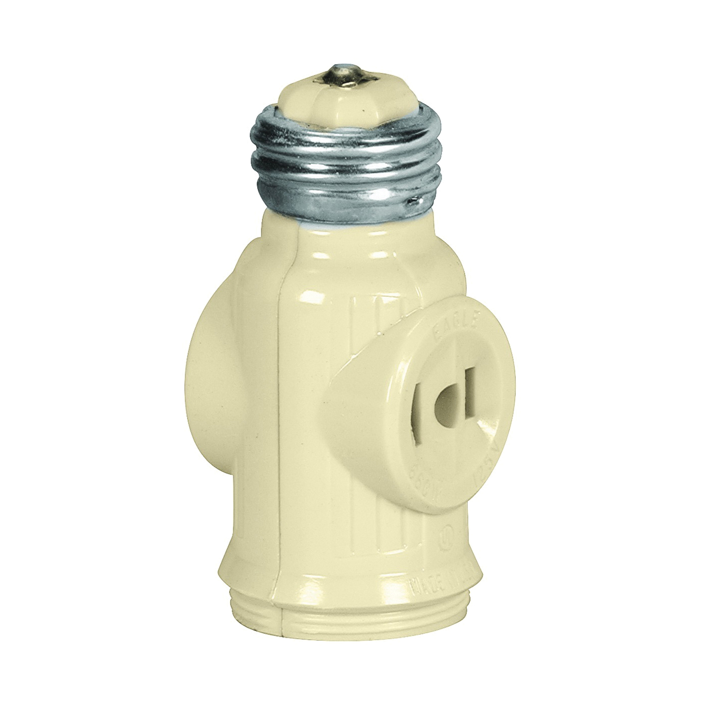 Picture of Eaton Wiring Devices 715V-BOX Socket Adapter, 660 W, 2-Outlet, Thermoplastic, Ivory