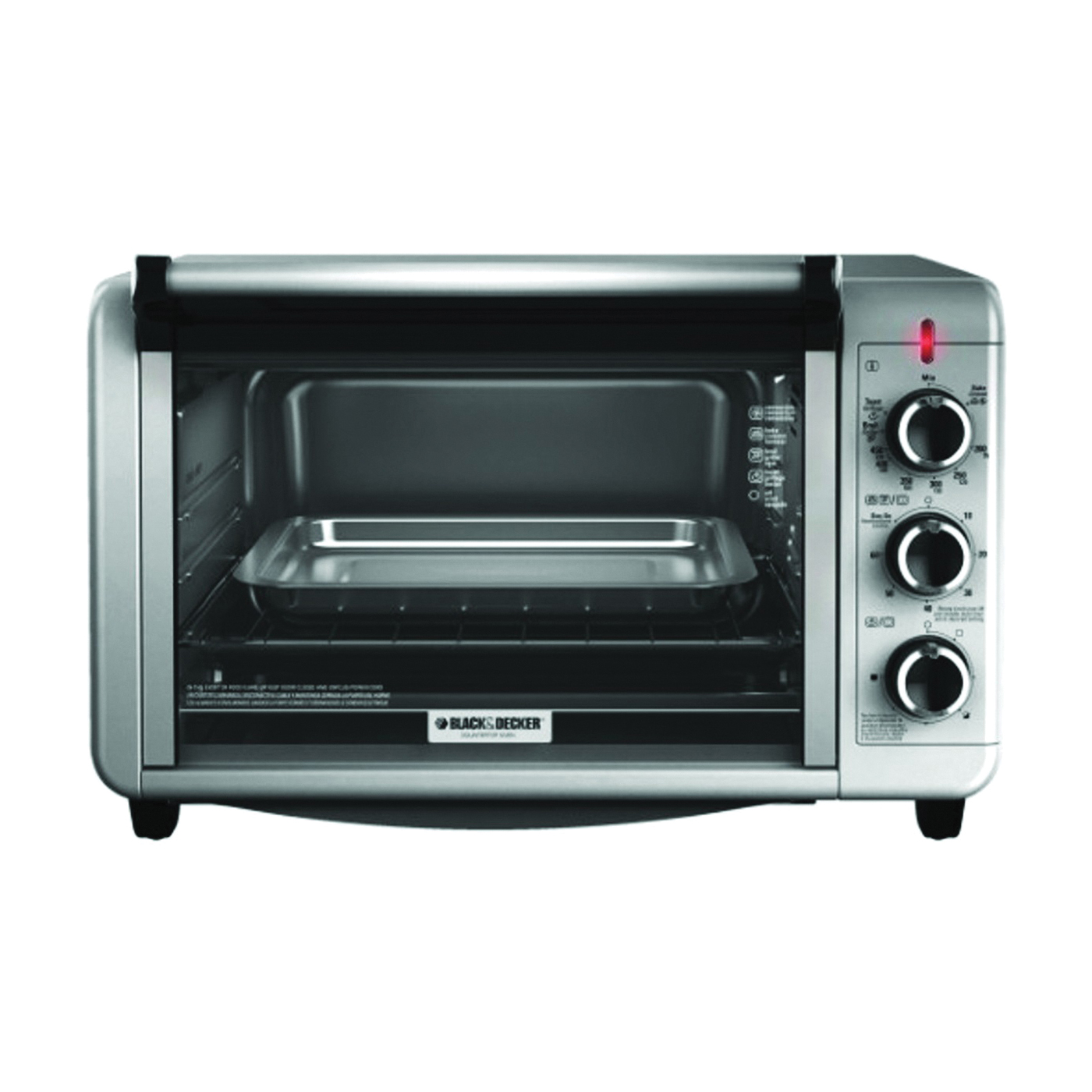 Picture of Black+Decker TO3210SSD Toaster Oven, 1500 W, Knob Control, 6 Slice/Hr, Metal, Silver