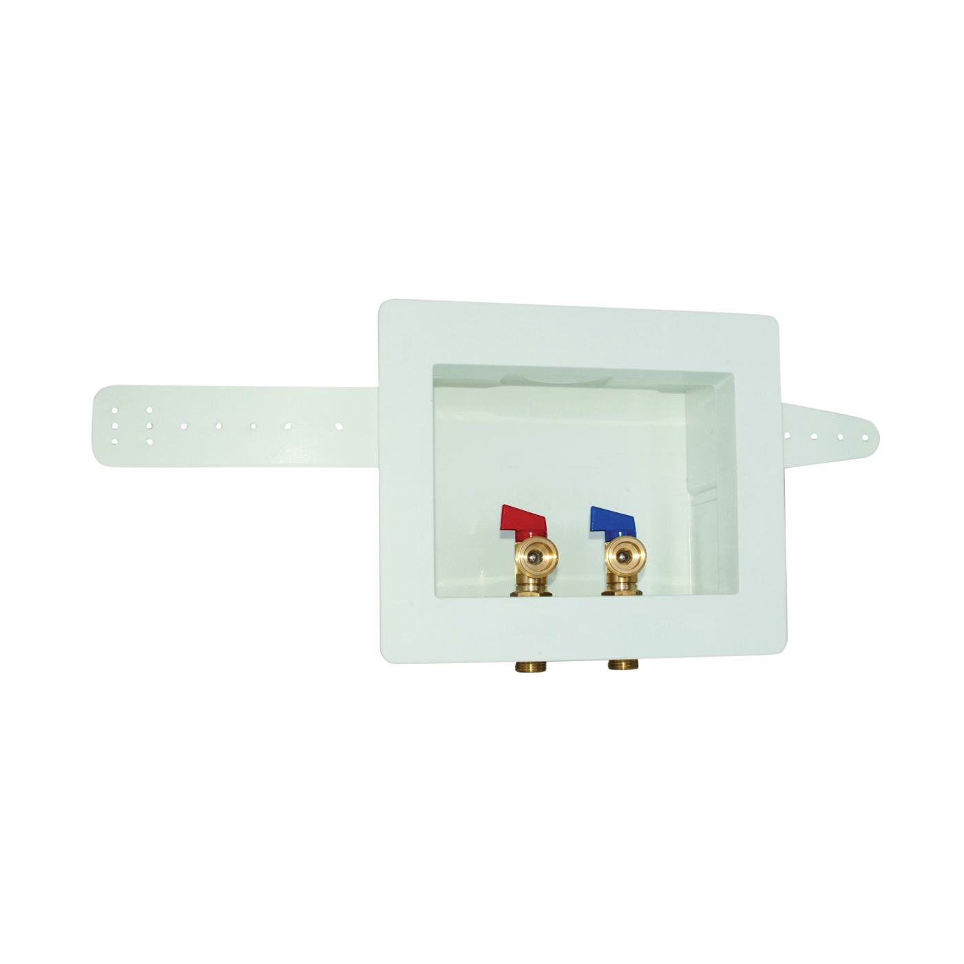 Picture of EASTMAN 60243 Washing Machine Outlet Box, 1/2, 3/4 in Connection, Brass