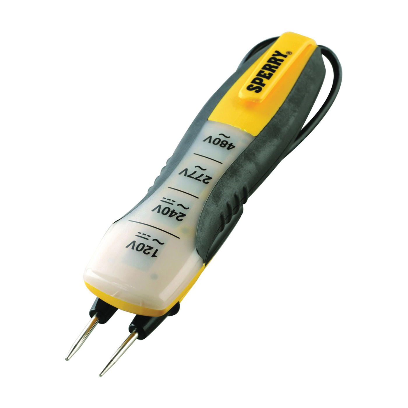 Picture of GB ET6204 Voltage Tester, 80 to 480 VAC/VDC, LED Display, Functions: Voltage, Yellow