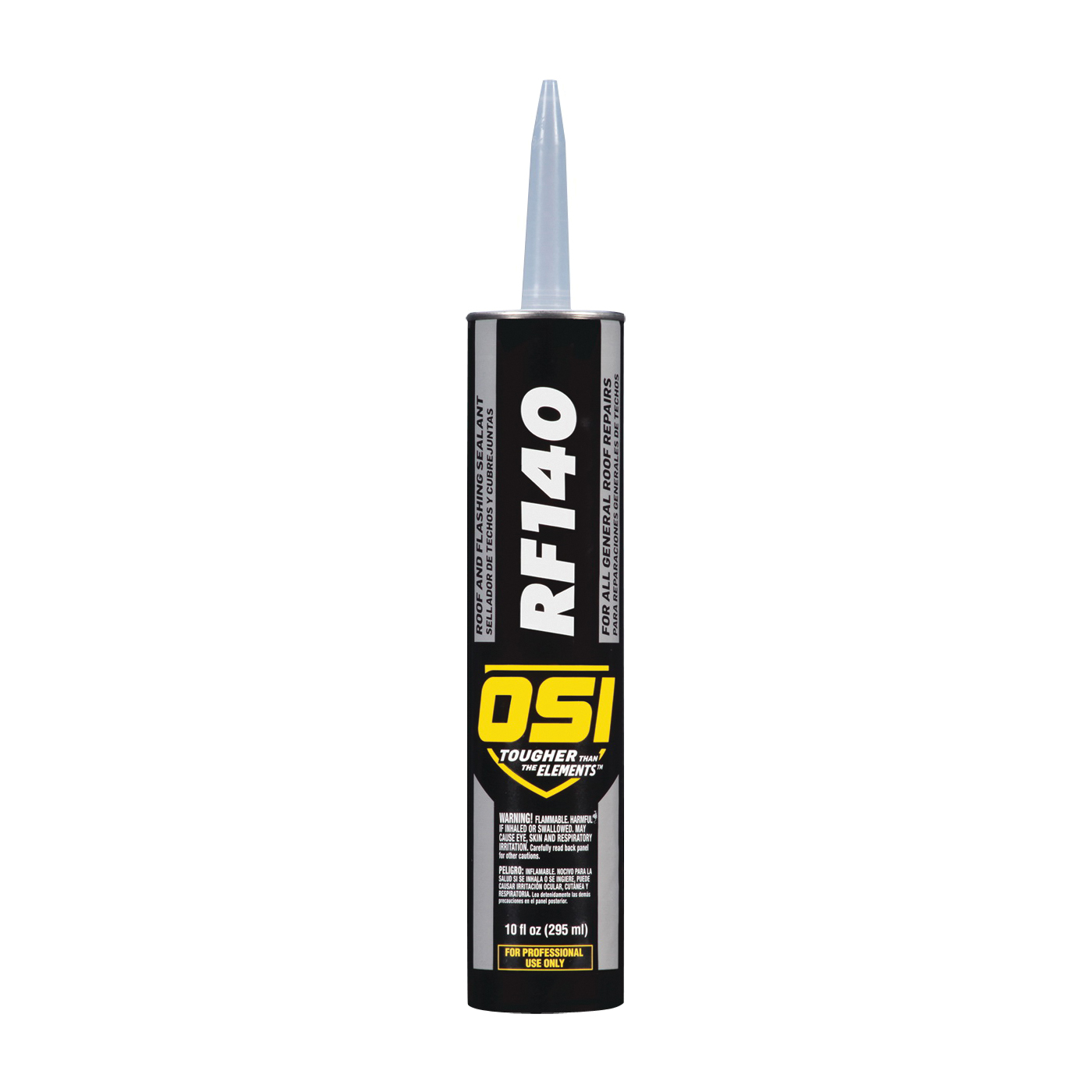 Picture of OSI RF140 Series 1938618 Roof and Flashing Sealant, Black, Liquid, 10.5 oz Package, Cartridge