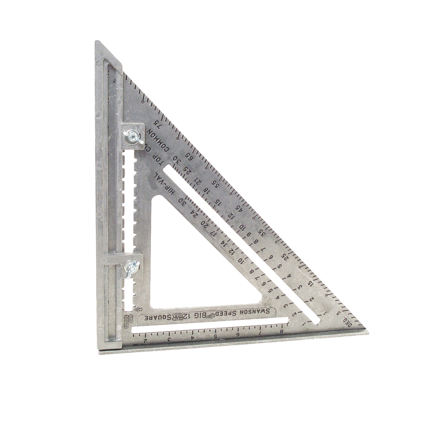 Picture of Swanson Big 12 Speed S0107 Framing Square, Aluminum, 12 in L, 12 in W