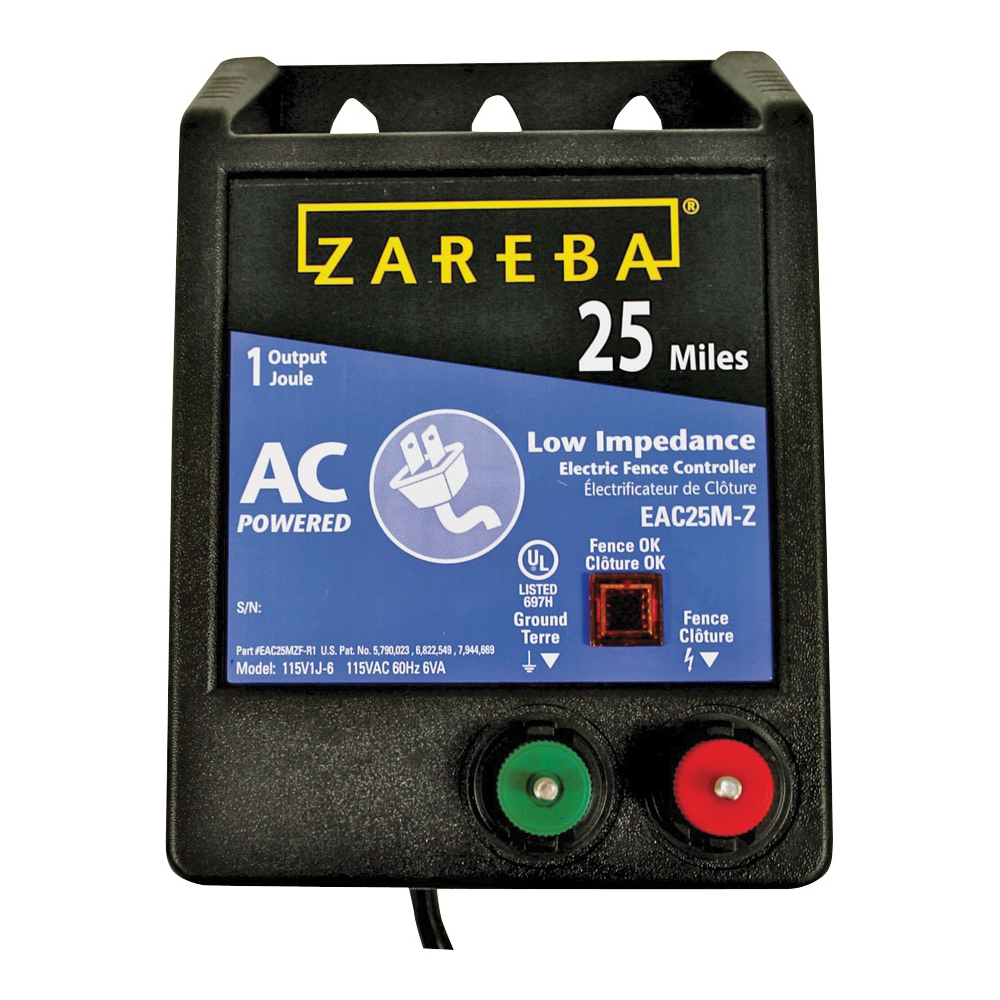 Picture of Zareba EAC25M-Z Electric Fence Charger, 1 J Output Energy, 115 V