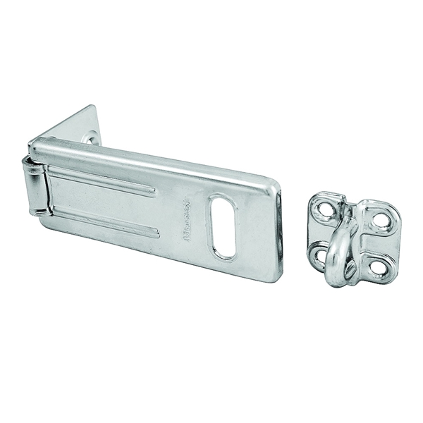 Picture of Master Lock 703D Hasp, 3-1/2 in L, 1-1/4 in W, Steel, Zinc, 11/32 in Dia Shackle