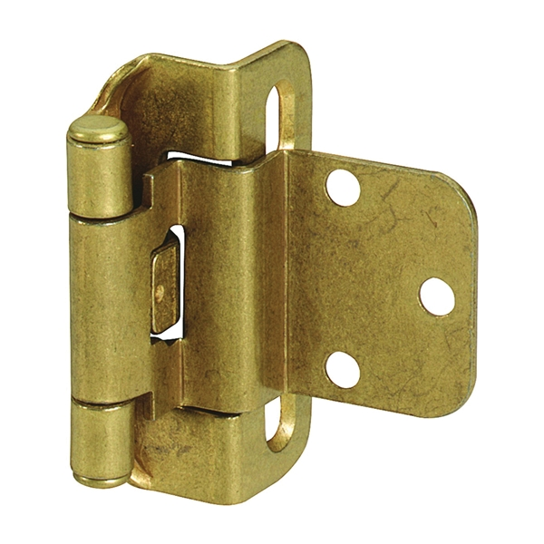 Picture of Amerock BPR7565BB Cabinet Hinge, 3/8 in Inset, Burnished Brass