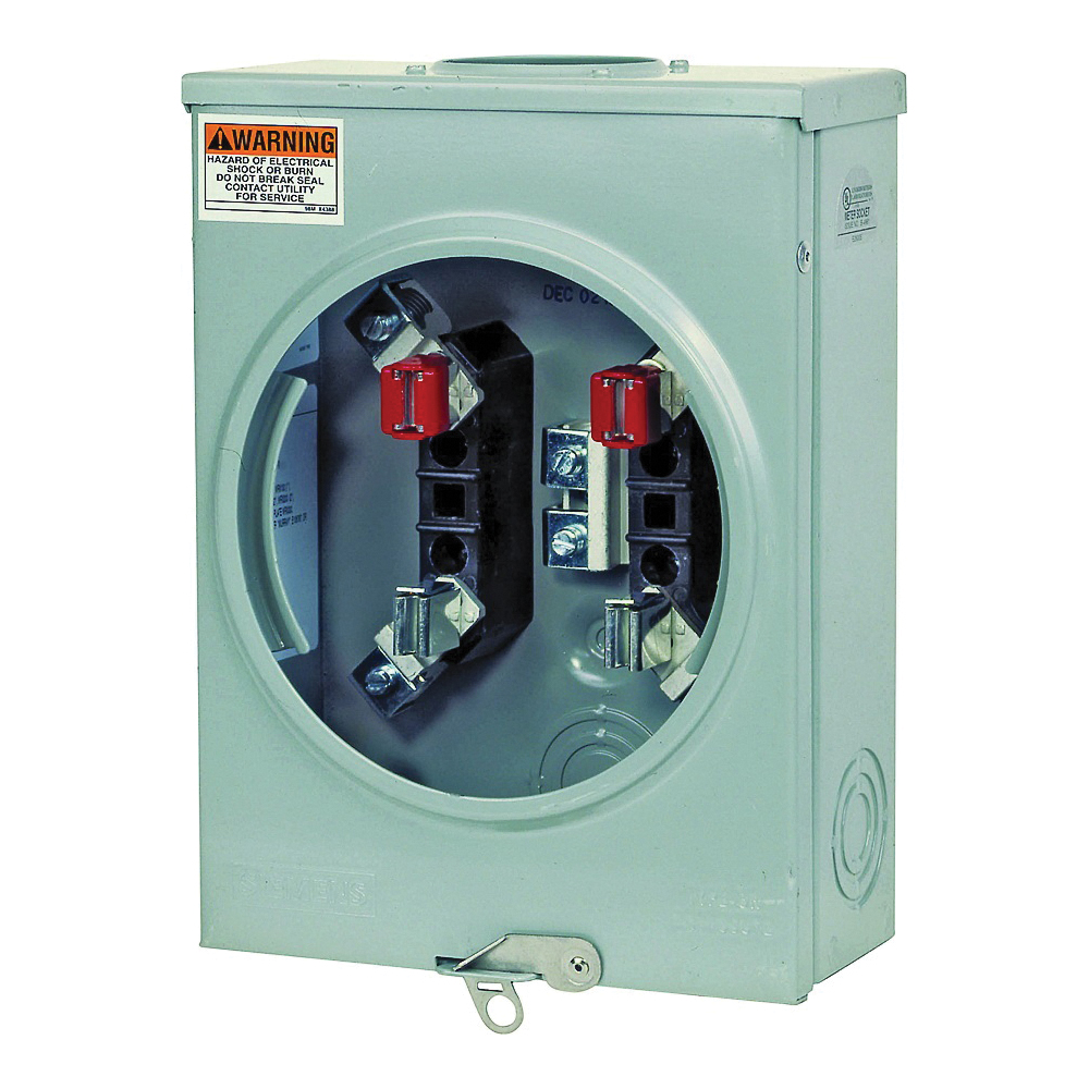 Picture of Siemens SUAT417-XG Meter Socket, 1-Phase, 200 A, 600 V, 4-Jaw, Overhead/Underground Feed Cable Entry
