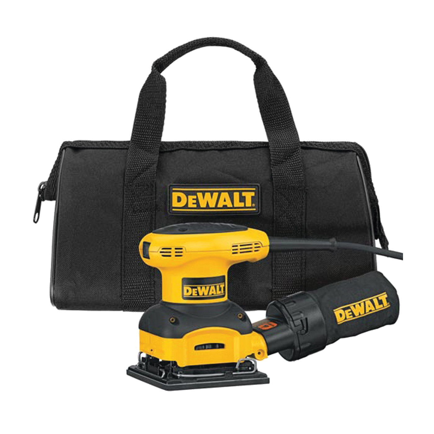 Picture of DeWALT DWE6411K/D26441K Sander Kit, 120 V, 2.3 A, 4-1/8 x 4-1/2 in Pad, 14000 opm No Load