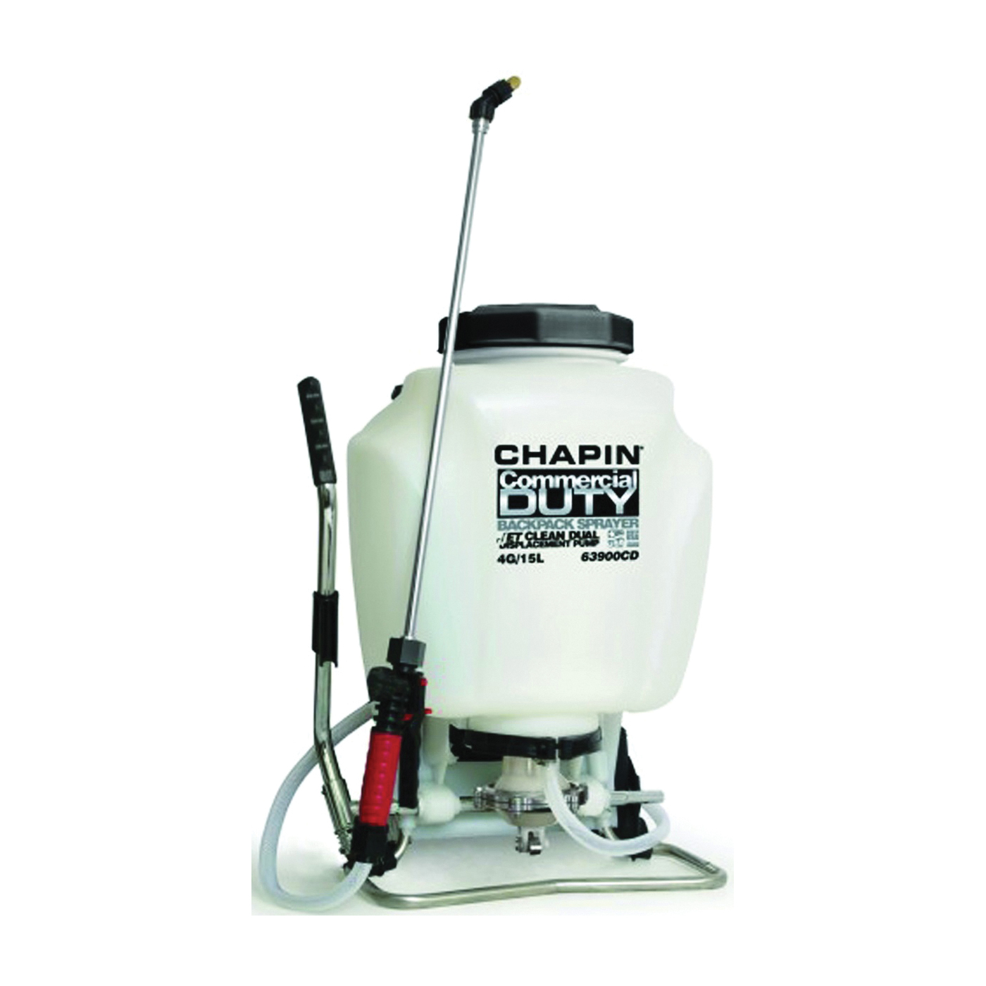 Picture of CHAPIN 63900 Backpack Sprayer, 4 gal Tank, Poly Tank, 25 ft Horizontal, 23 ft Vertical Spray Range, 48 in L Hose