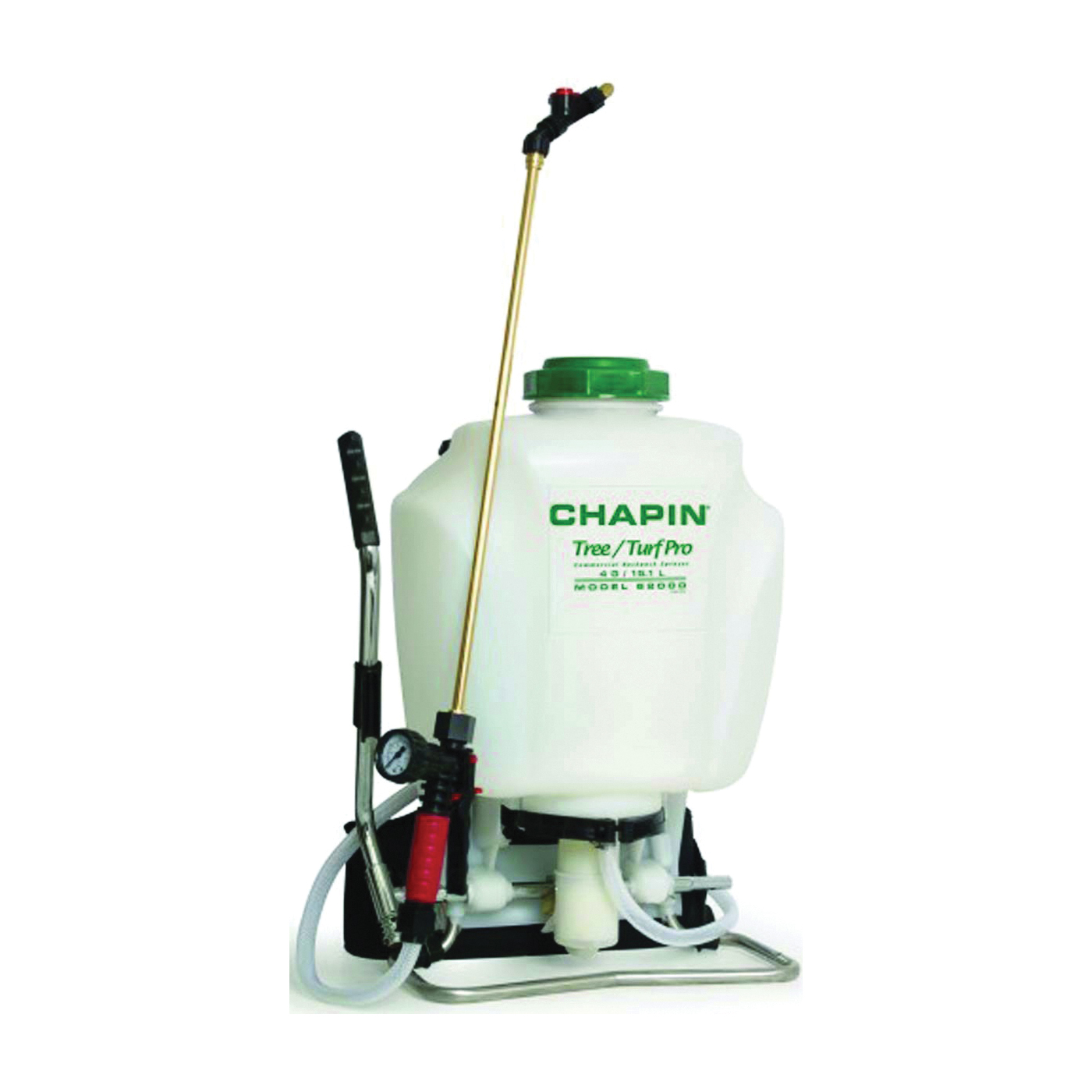Picture of CHAPIN 62000 Backpack Sprayer, 4 gal Tank, Poly Tank, 25 ft Horizontal, 23 ft Vertical Spray Range, 48 in L Hose
