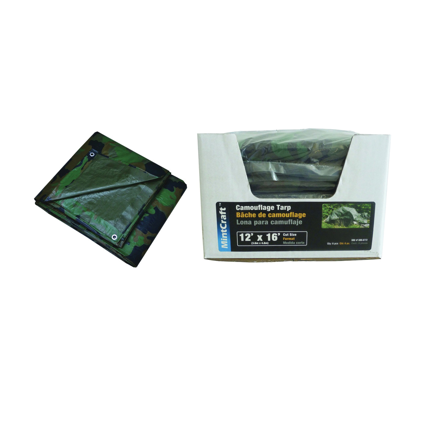Picture of ProSource C1212110-D Tarp with Display, 16 ft L, 12 ft W, Poly
