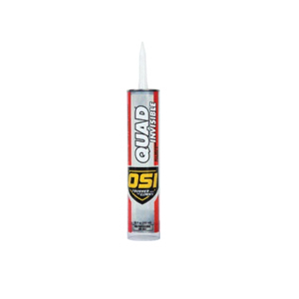 Picture of OSI QUAD INVISIBLE 1896952 Sealant, Clear, -20 to 200 deg F, 9.5 oz Package, Cartridge