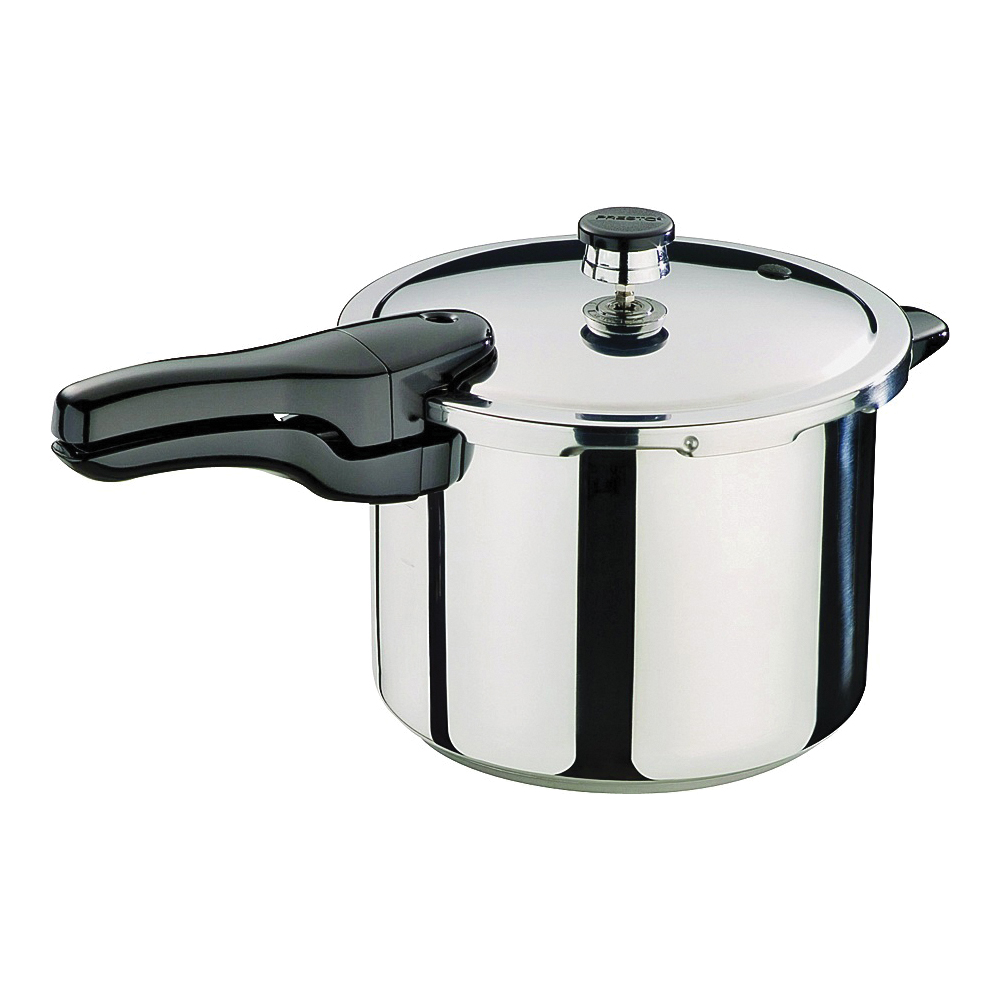 Picture of Presto 01362 Pressure Cooker, 6 qt Capacity, 10-1/2 in Dia, Stainless Steel