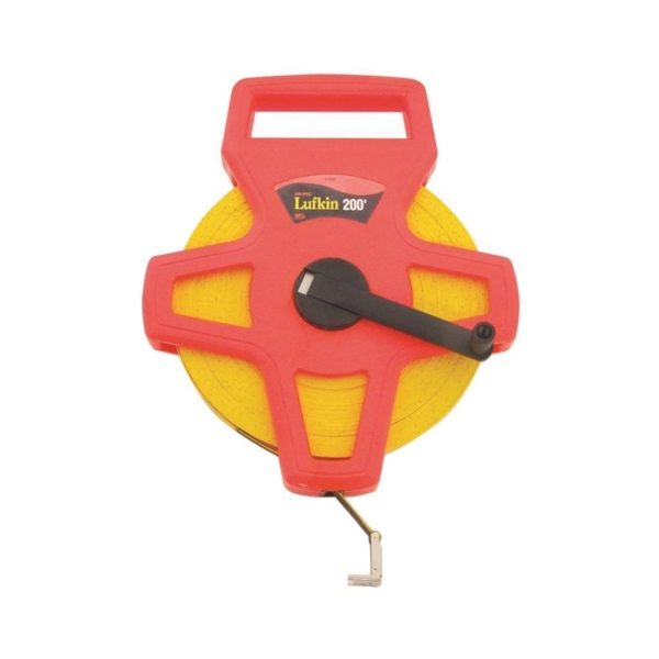 Picture of Crescent Lufkin FE200/1708 Tape Measure, 200 ft L Blade, 1/2 in W Blade, Fiberglass Blade, ABS Case, Orange Case