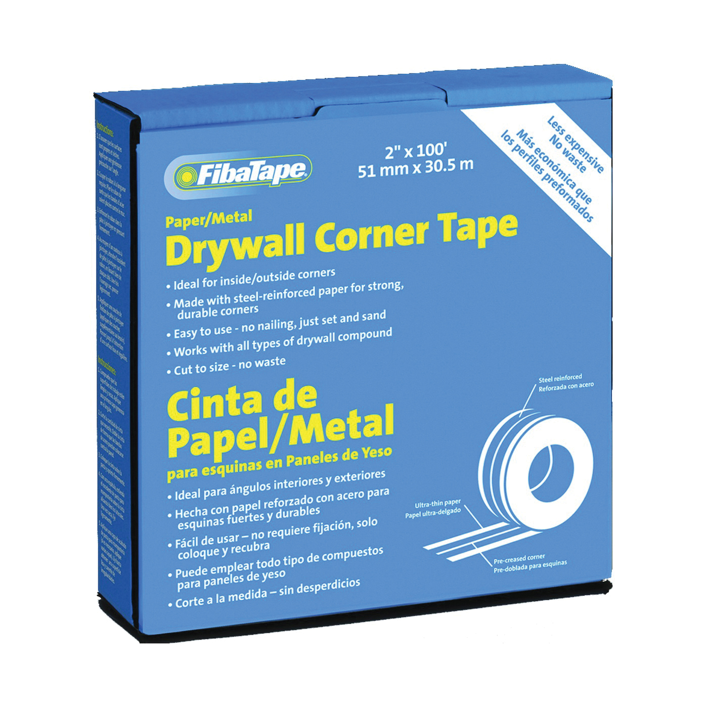 Picture of ADFORS FDW6622-U Corner Tape Box, 100 ft L, 2 in W, 0.215 mm Thick, White, Box