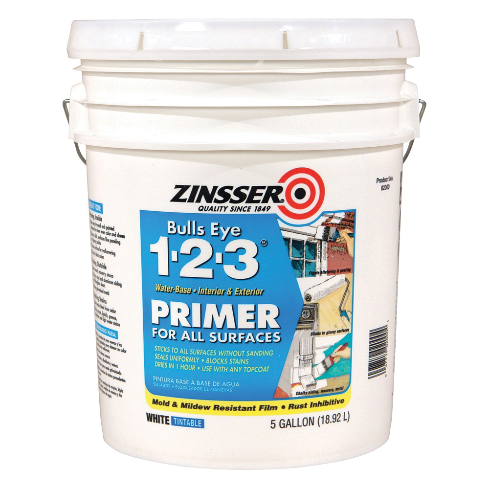 Picture of ZINSSER 02000 Primer, White, 5 gal